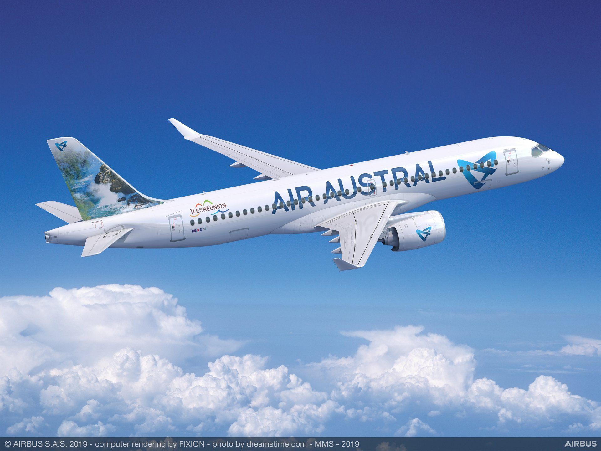 Air Austral became Airbus' first A220 customer based in the Indian Ocean region with a three-aircraft firm order announced in October 2019