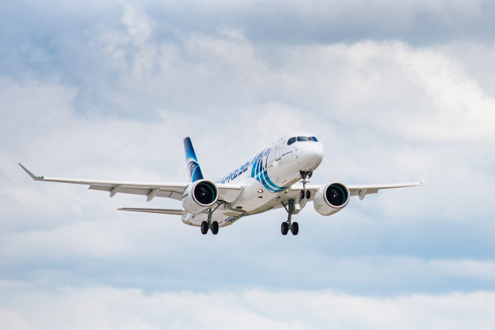 The initial A220-300 for EgyptAir performed its first test flight in August 2019 from the Mirabel assembly line in Quebec, Canada