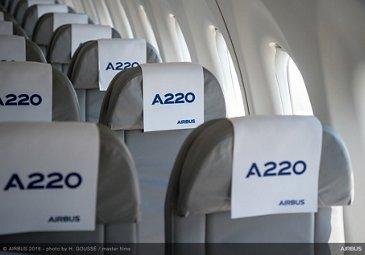 A220 jetliner passenger cabin 1