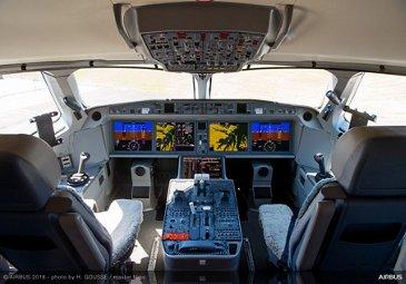 A220 jetliner cockpit