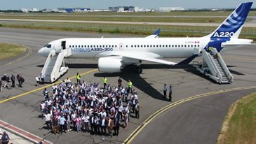 The A220 Family joins Airbus' product line-up