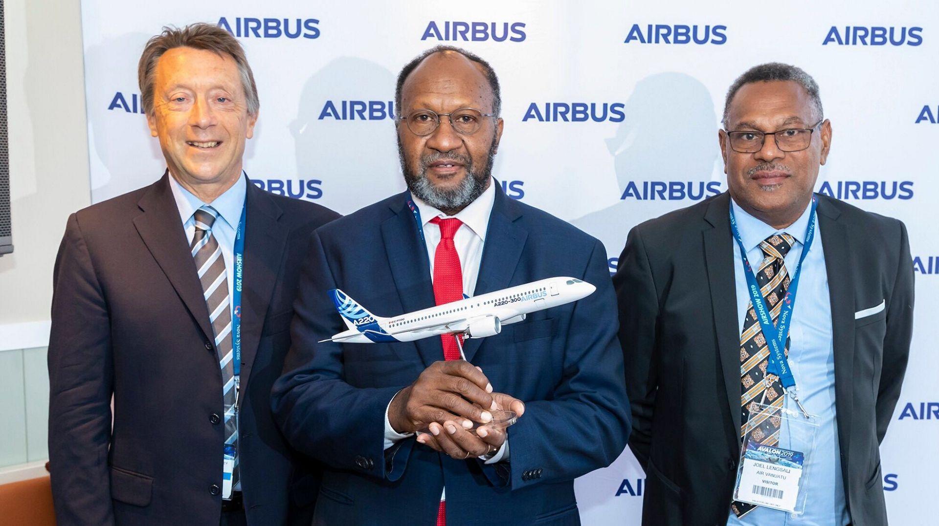 Air Vanuatu Airbus A220 signing ceremony