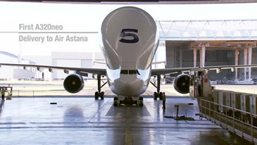 In the making Air Astana's A320neo