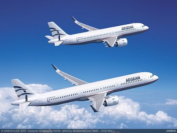 AEGEAN A320neo and A321neo (computer rendering)