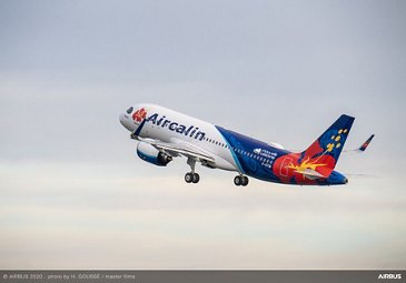 First Aircalin A320neo on ferry flight