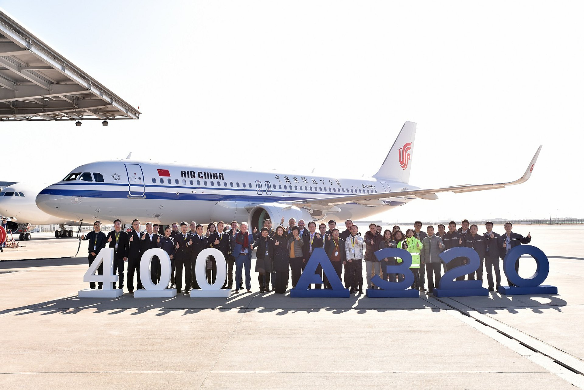 400th A320 Family jetliner from the Asian final assembly line