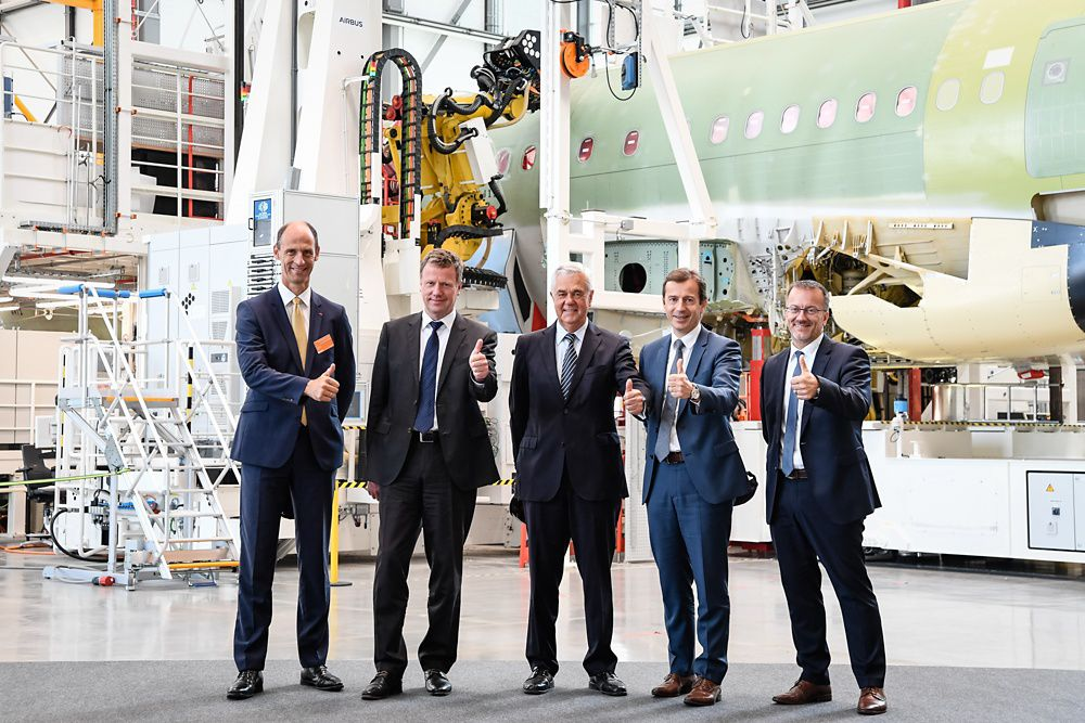 Airbus inaugurates Hamburg 4th A320 family production line