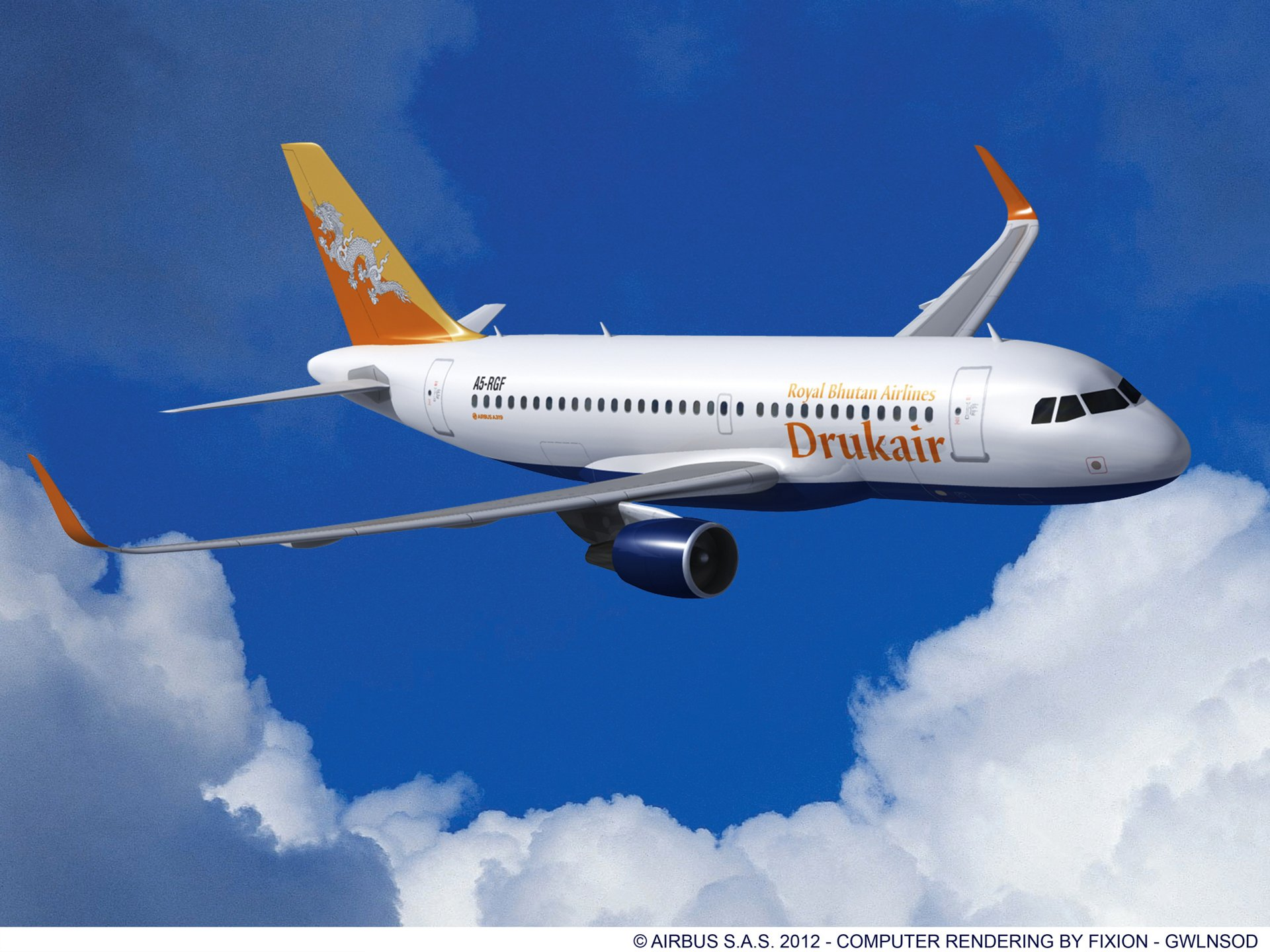 , A319 Sharklets Druk Air 2