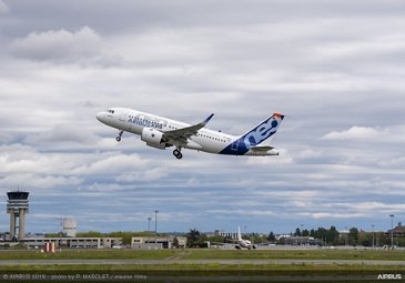 First A319neo flight with Pratt & Whitney engines