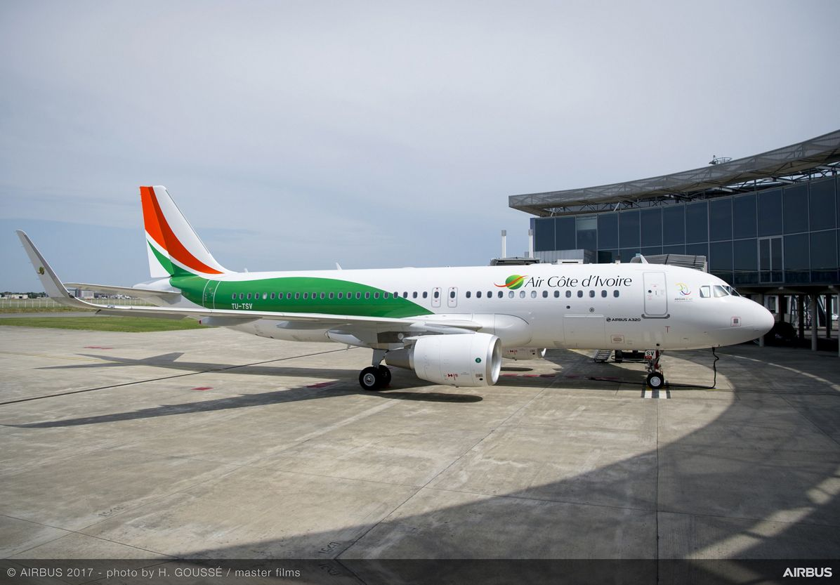 1st A320 Delivery To Air Côte D'Ivoire