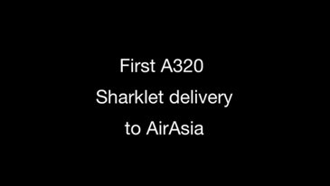 The first Sharklet-equipped A320 is delivered to AirAsia
