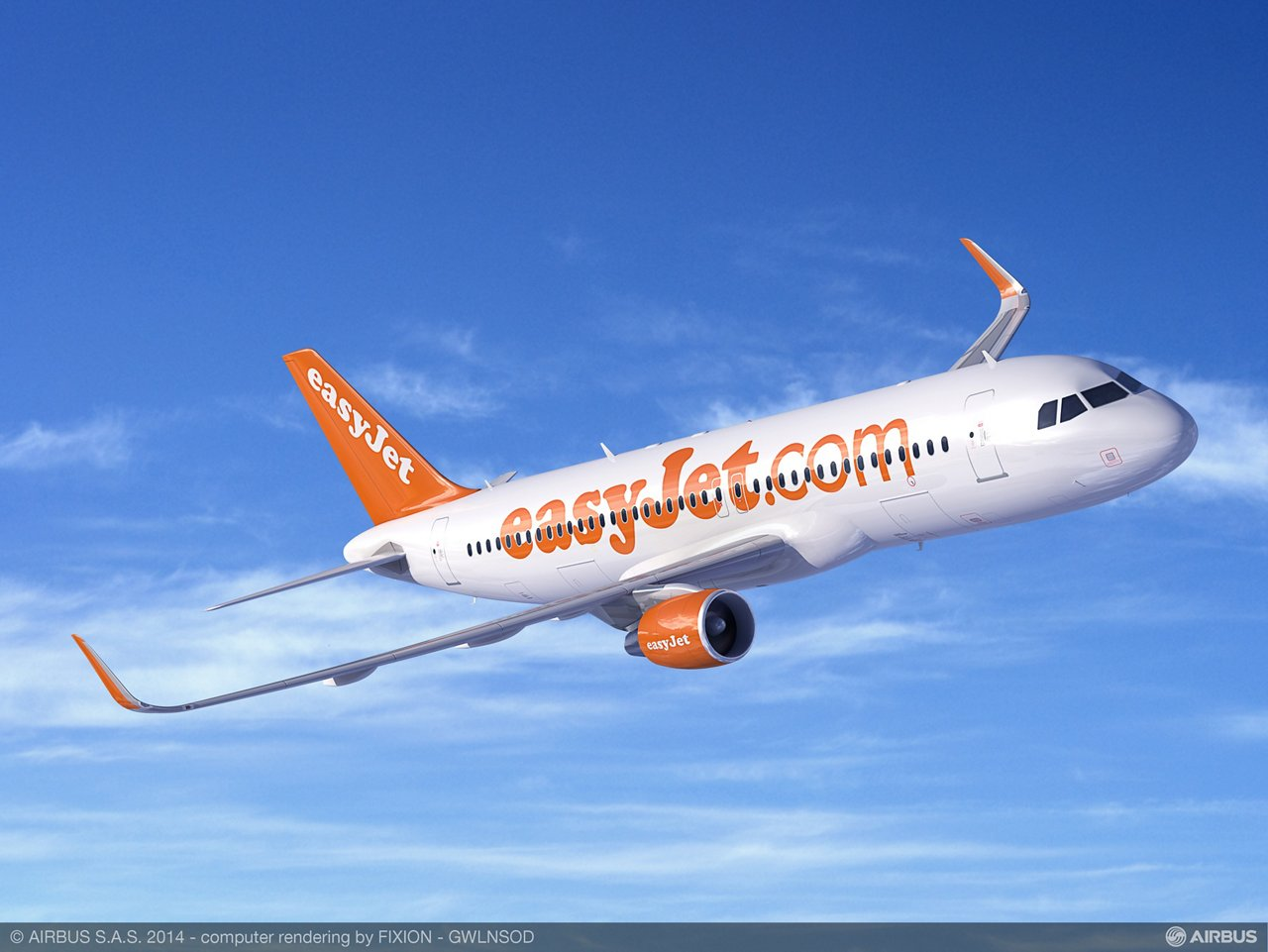 easyJet's Sharklet-equipped A320ceo