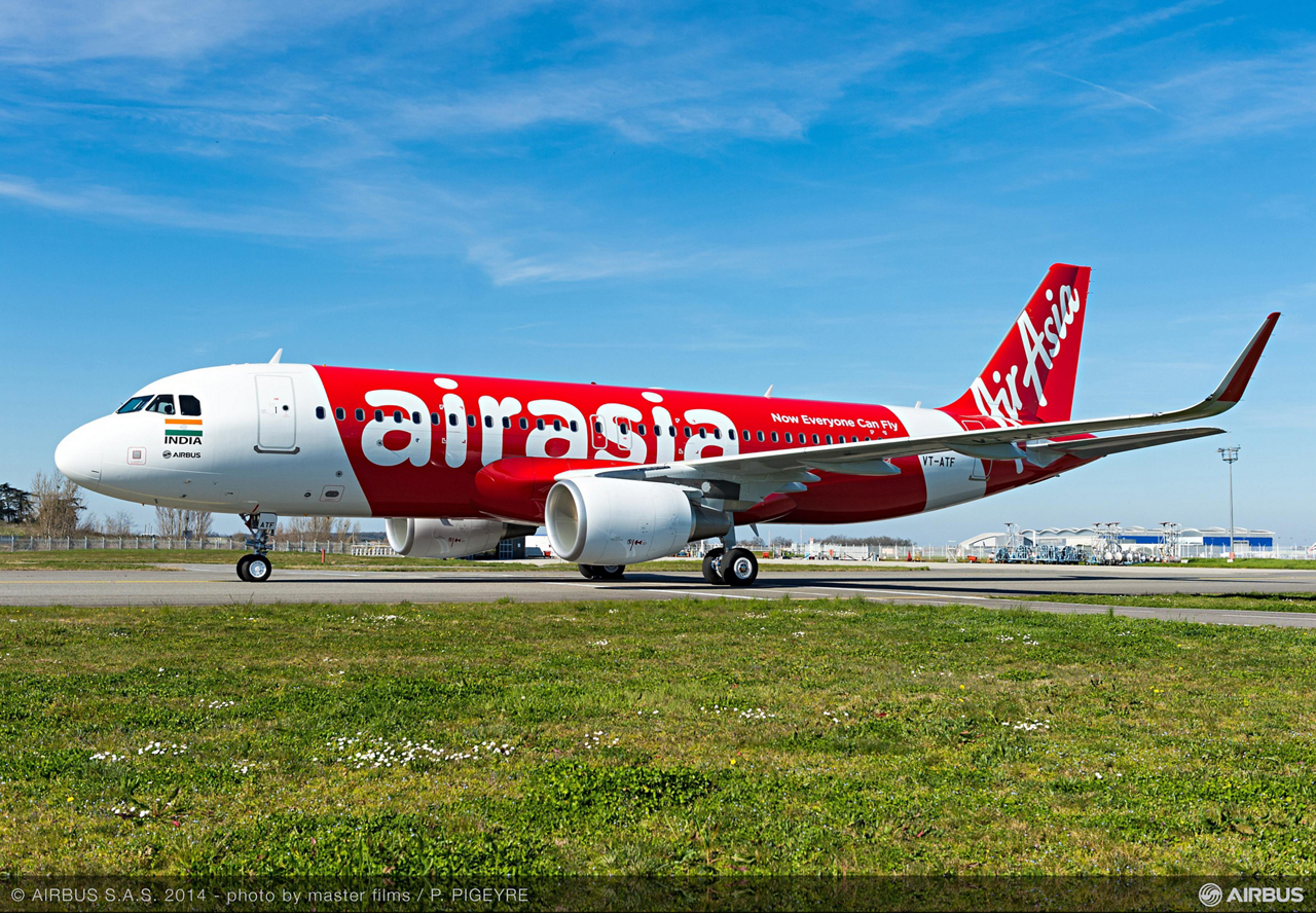 AirAsia India, country's newest airline, has taken delivery of its first aircraft – a Sharklet-equipped Airbus A320 jetliner