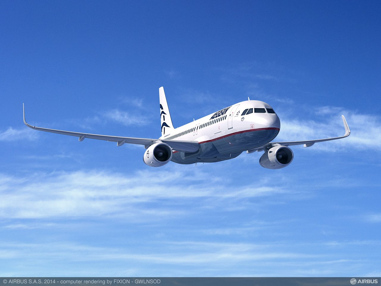 Aegean Airlines' firm contract with Airbus for two additional A320ceo aircraft, announced 28 August 2014, adds to this carrier's 2007 order for five A320s