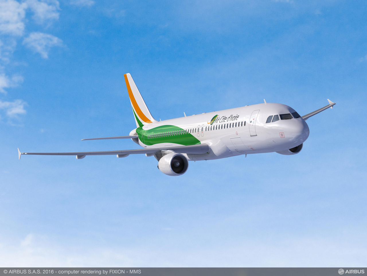 Ivory Coast flag carrier Air Côte D'Ivoire's firm order announced 28 April 2016 includes two A320ceo (current engine option) aircraft, along with two A320neo (new engine option) versions