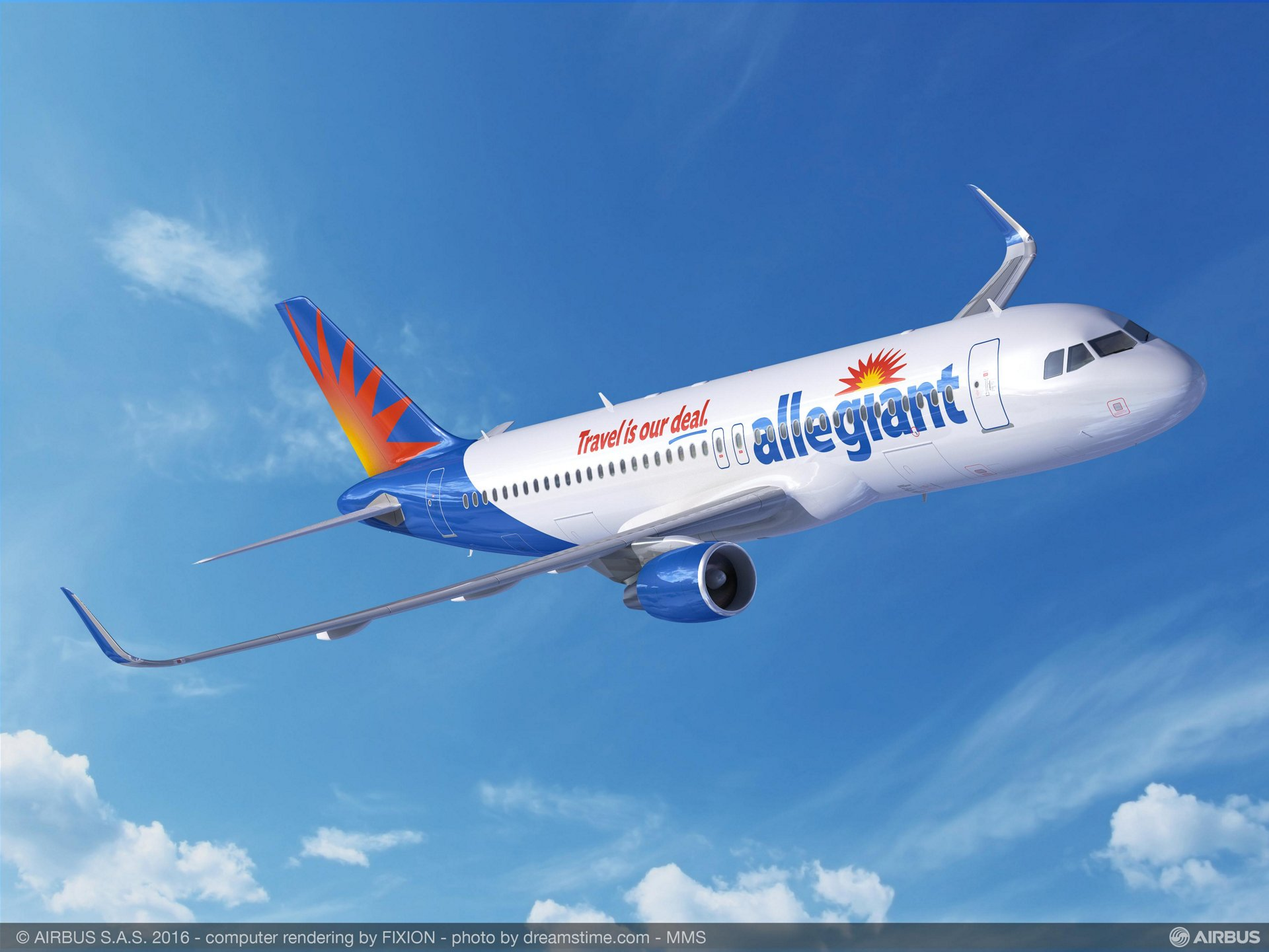 Allegiant Travel Company – based in Las Vegas, Nevada – placed an order for 12 A320ceo (current engine option) jetliners as part of its fleet plan that focuses on a transition to all Airbus aircraft
