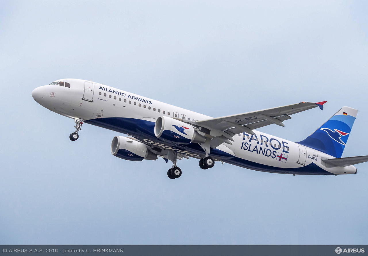 The first Airbus A320 for Atlantic Airways – delivered in December 2016 – will be deployed on routes from the Faroe Islands to Copenhagen