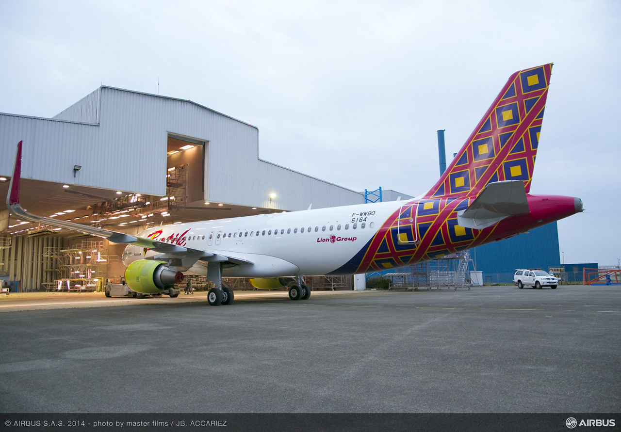 The initial Airbus jetliner for Indonesia's Lion Group – which will be operated by its full-service airline Batik Air – has rolled out of the paint shop hangar in Toulouse, France