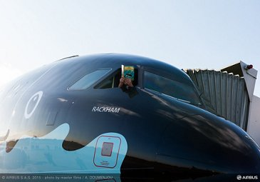 A320 Brussels Airlines Tintin at Blagnac-close up nose