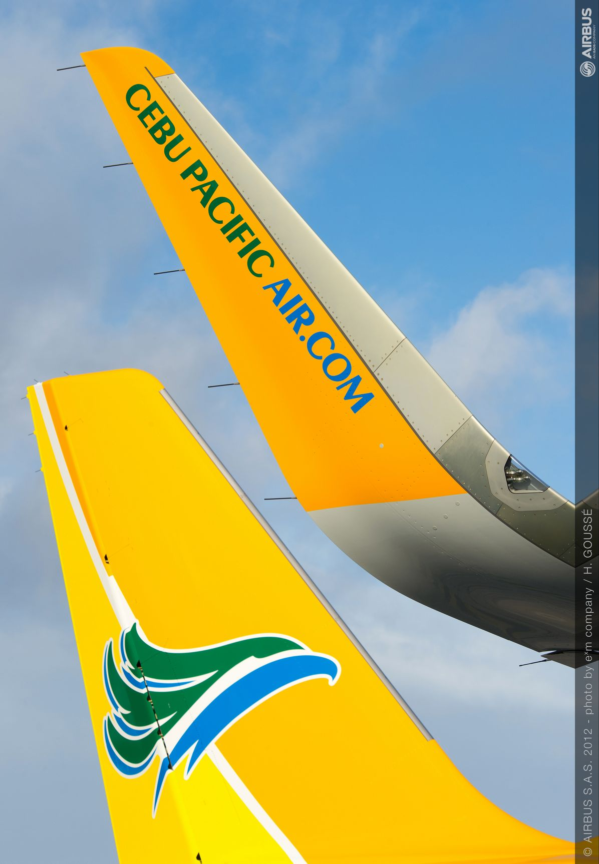 CLOSE UP ON SHARKLET CEBU, A320 Cebu Pacific Sharklet