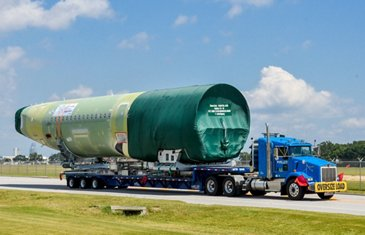 Aft fuselage delivery in Alabama for 50th U.S.-built A320 Family jetliner