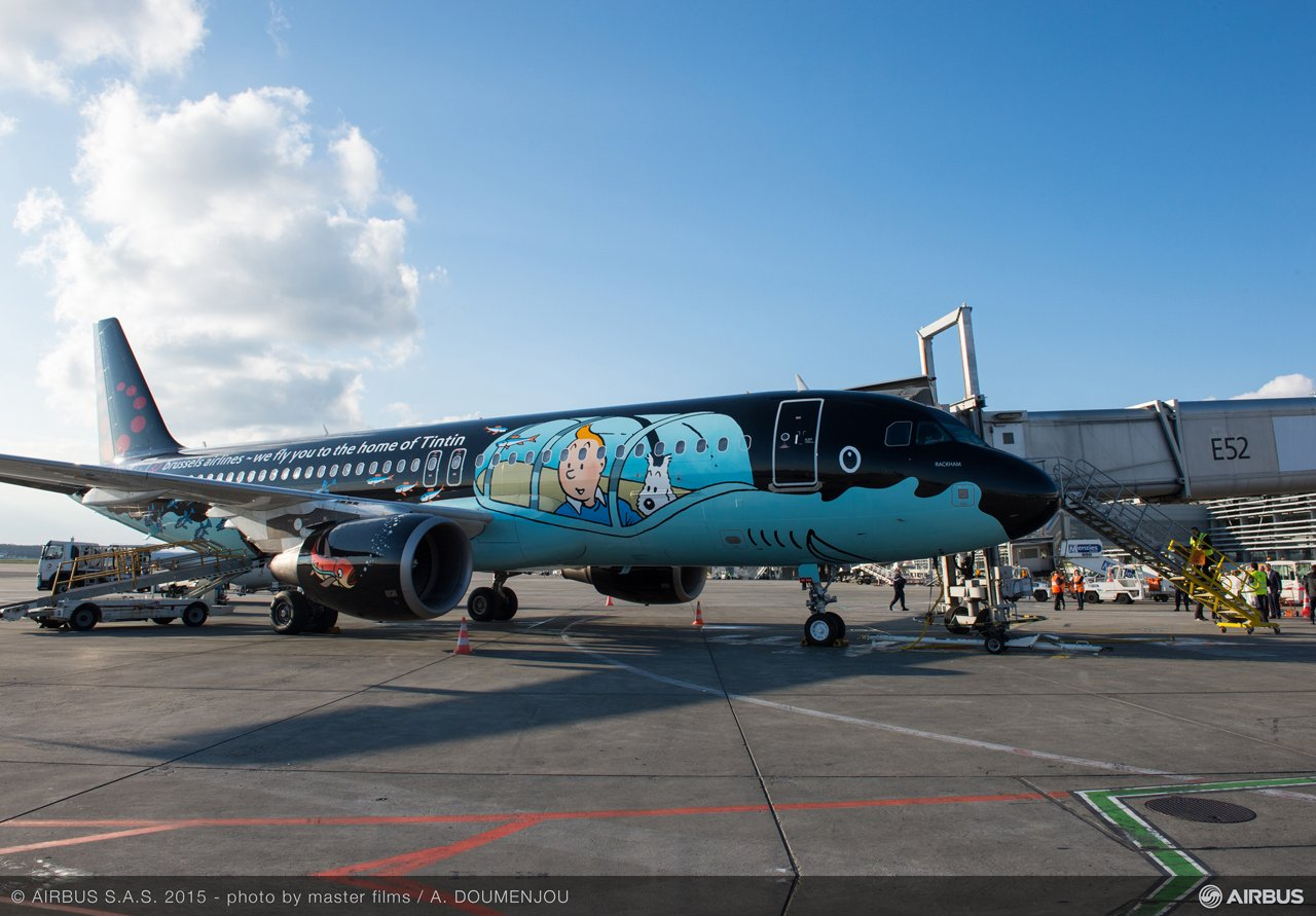 Brussels Airlines A320 Tintin livery 1