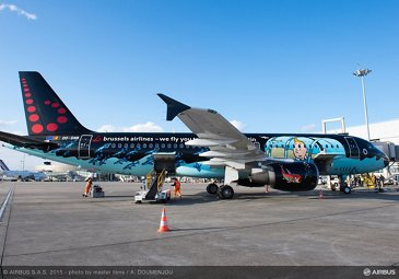 Brussels Airlines A320 Tintin livery 2