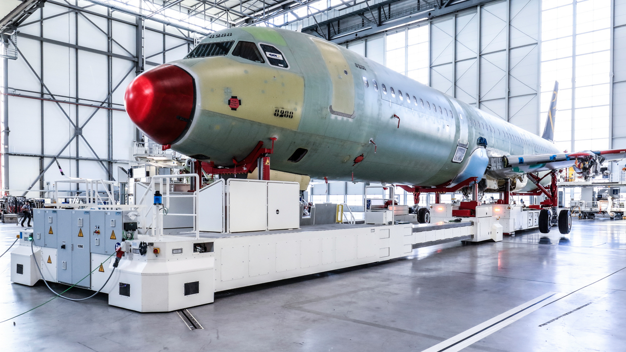 Airbus' newest production line in Hamburg, Germany is key to ramping up A320 Family production to 60 aircraft per month by mid-2019