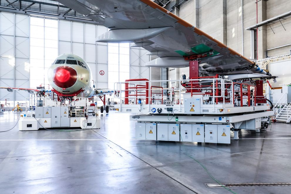 Mobile Tooling Platforms For Major Components 4th A320 Family Production Line Airbus