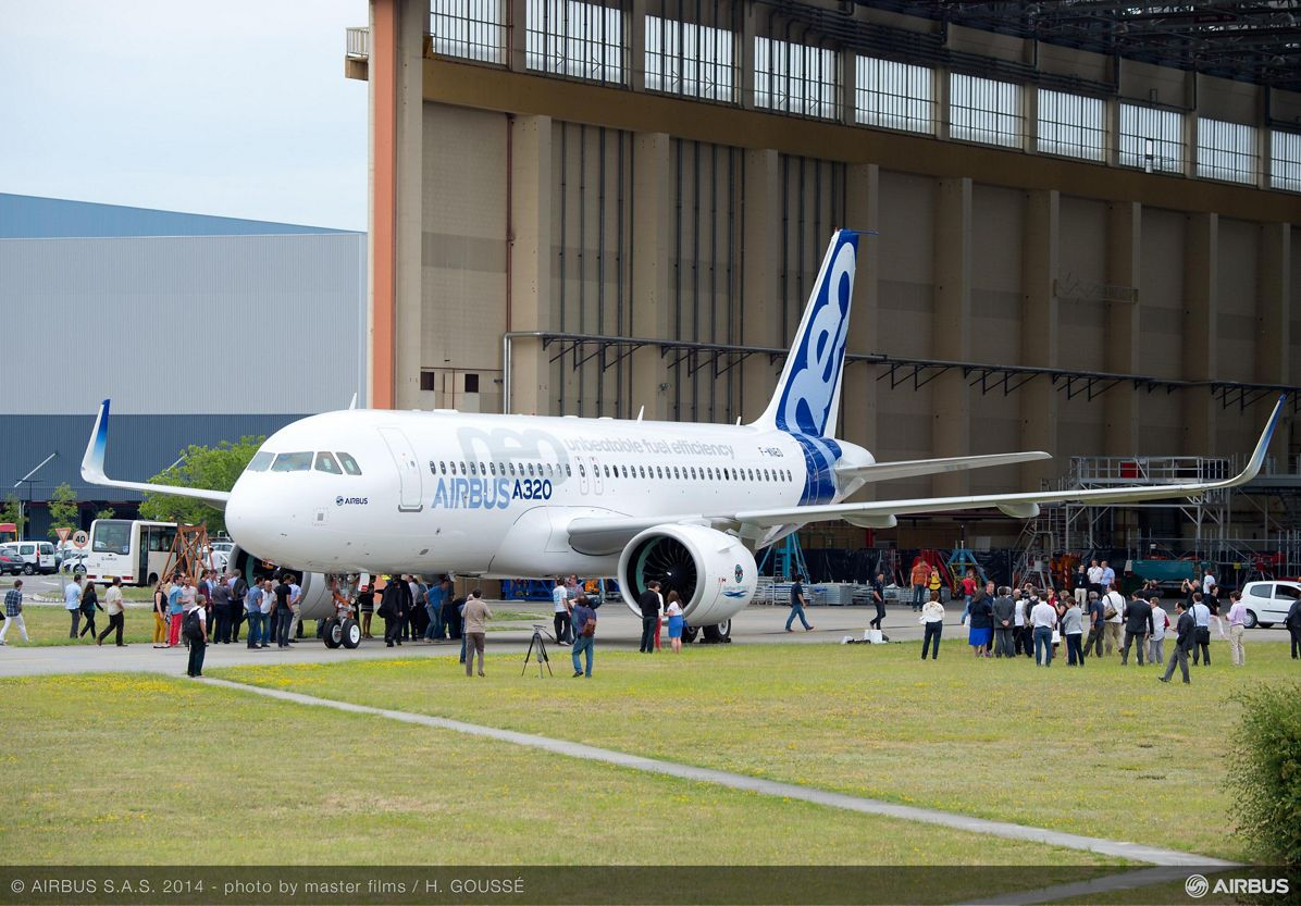 First A320neo rollout 1