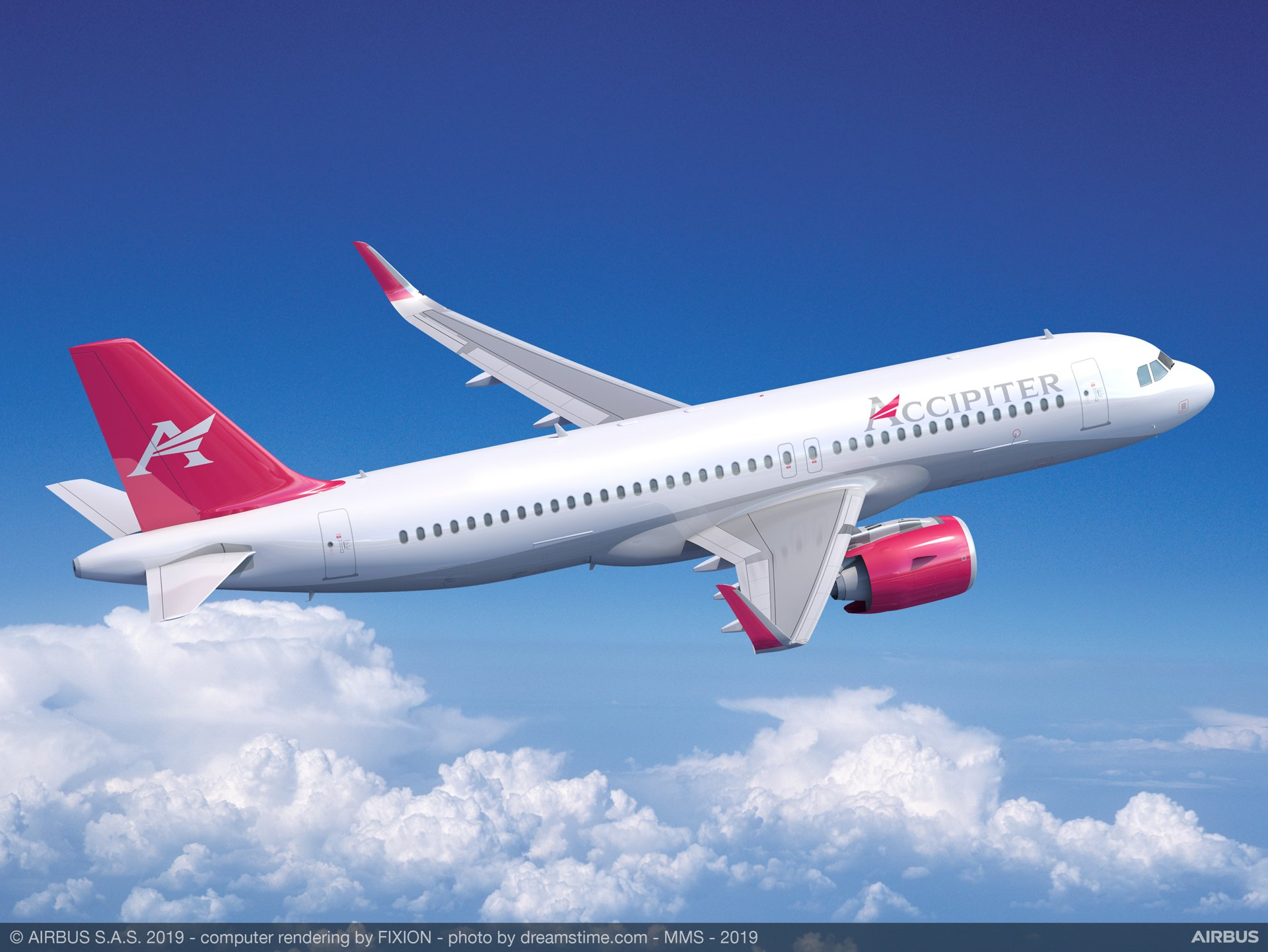 Dublin-based leasing company Accipiter Holdings' purchase agreement for 20 A320neo aircraft was announced during the 2019 Paris Air Show