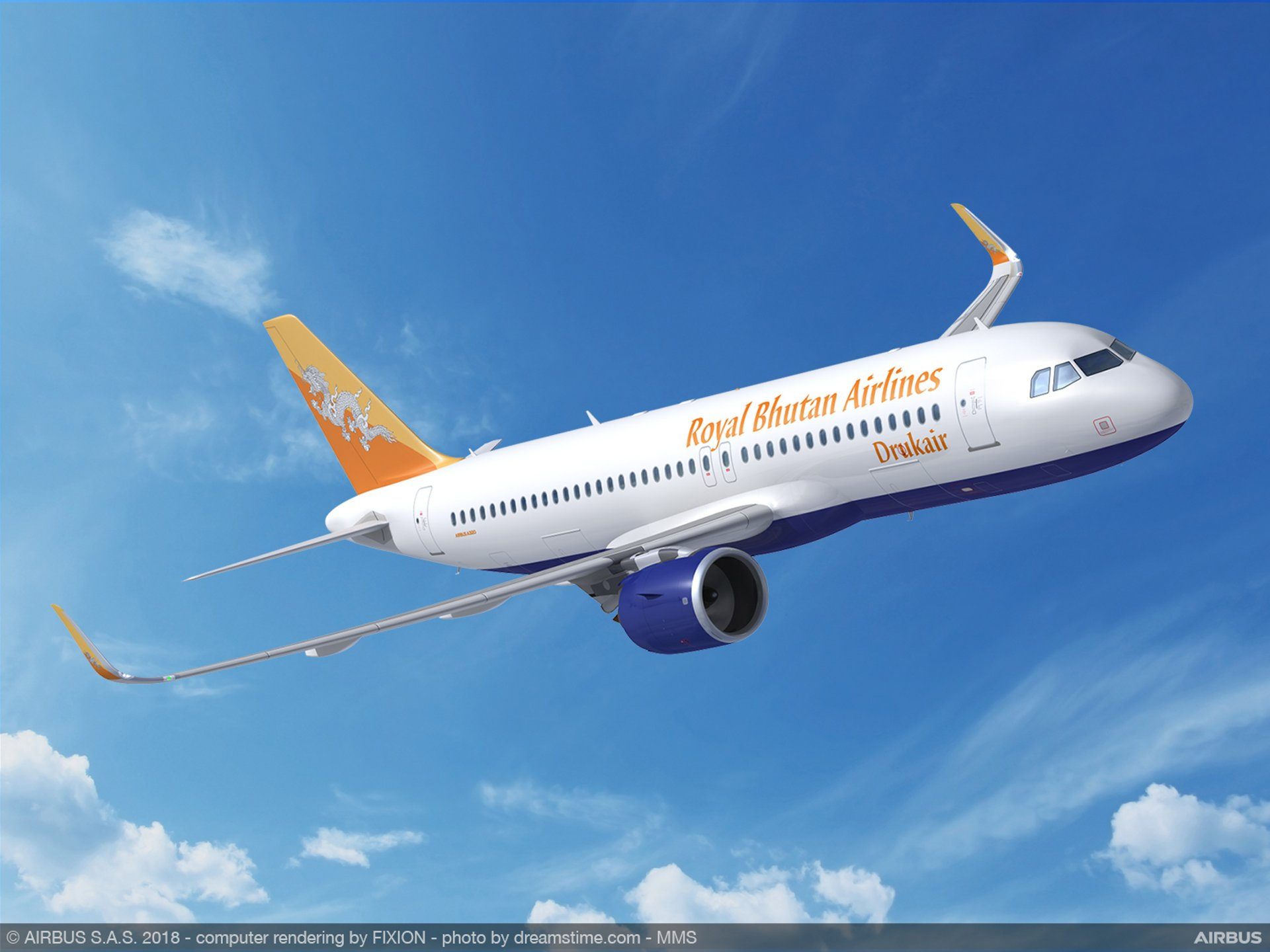 Drukair opts for the A320neo