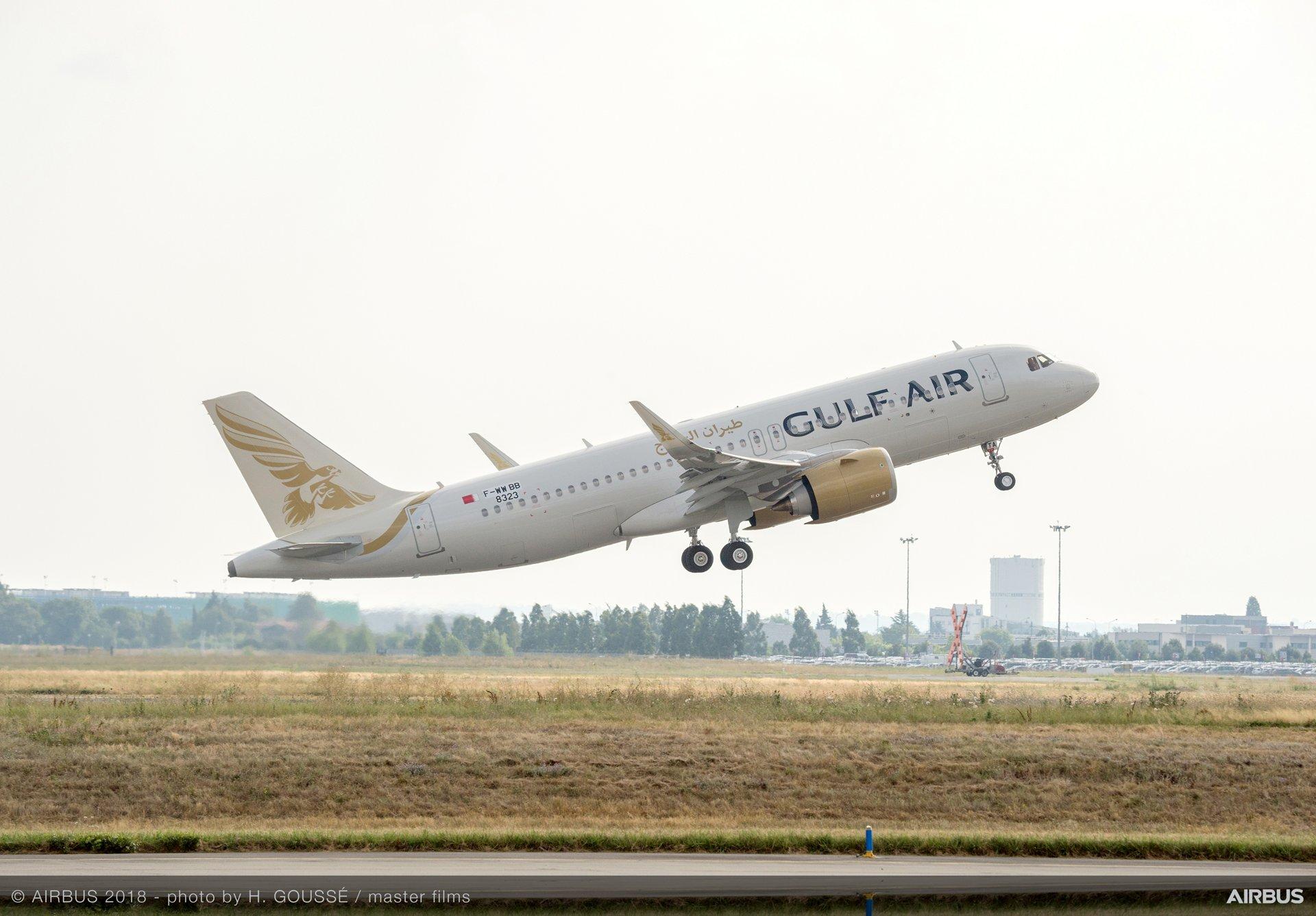 A320neo Gulf Air Take Off