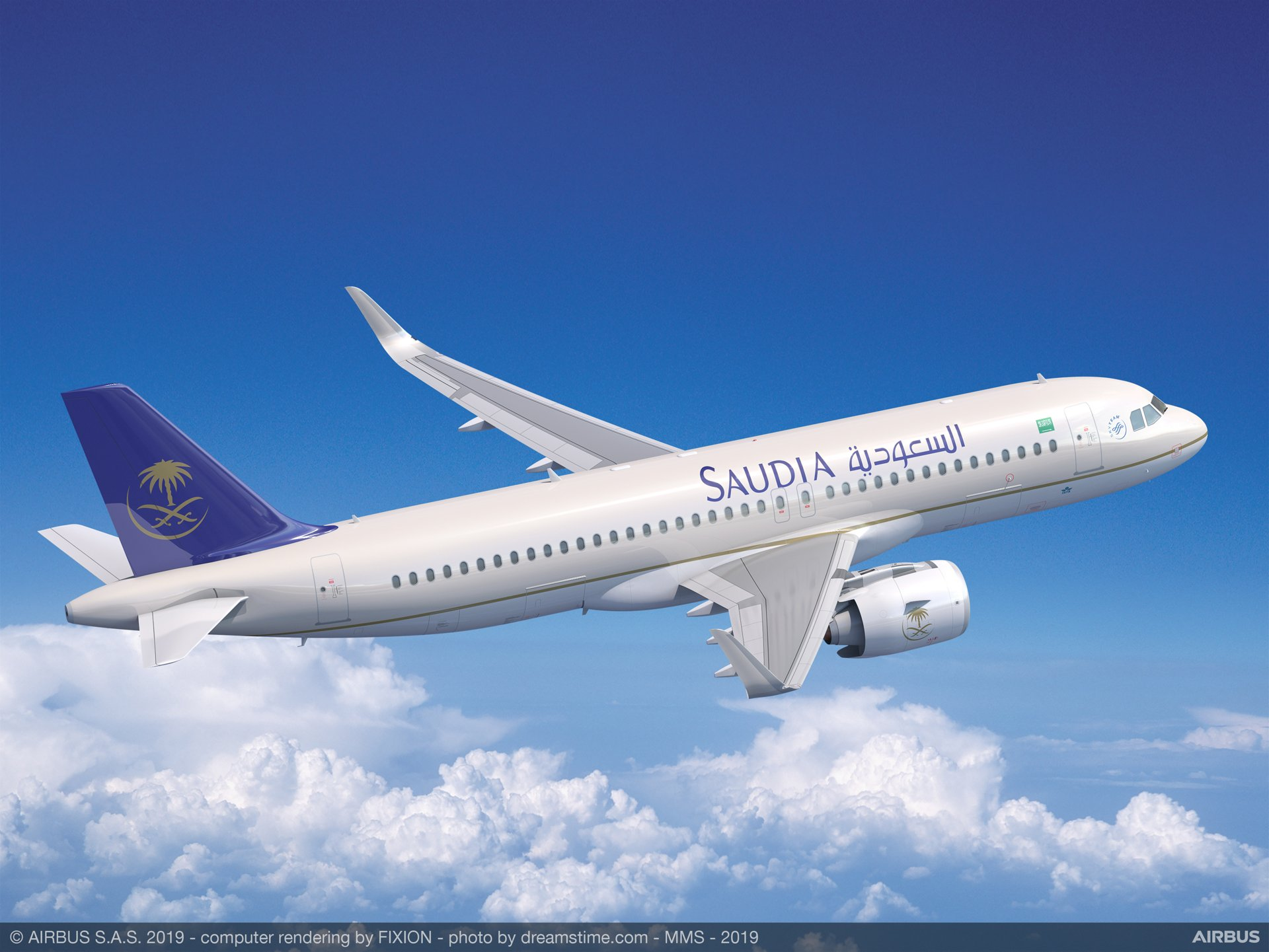 The expansion of Saudi Arabian Airlines' existing A320neo Family order from 35 to as many as 100 aircraft (including 35 options) was announced at the 2019 Paris Air Show