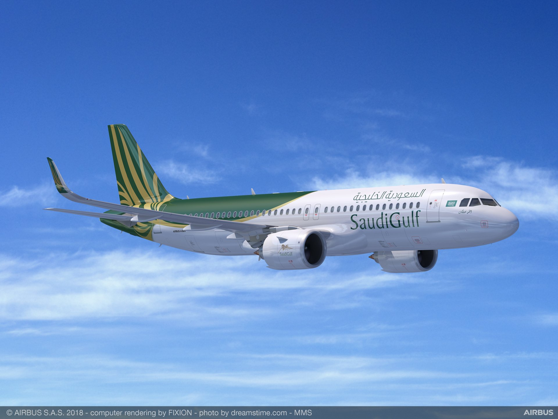 SaudiGulf Airlines will expand its fleet of A320 aircraft by acquiring 10 A320neo family jetliners through an agreement announced at the 2018 Bahrain International Airshow