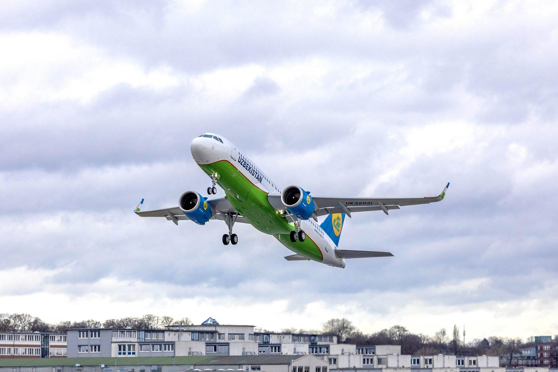 A320neo UZBEKISTAN AIRWAYS Take Off