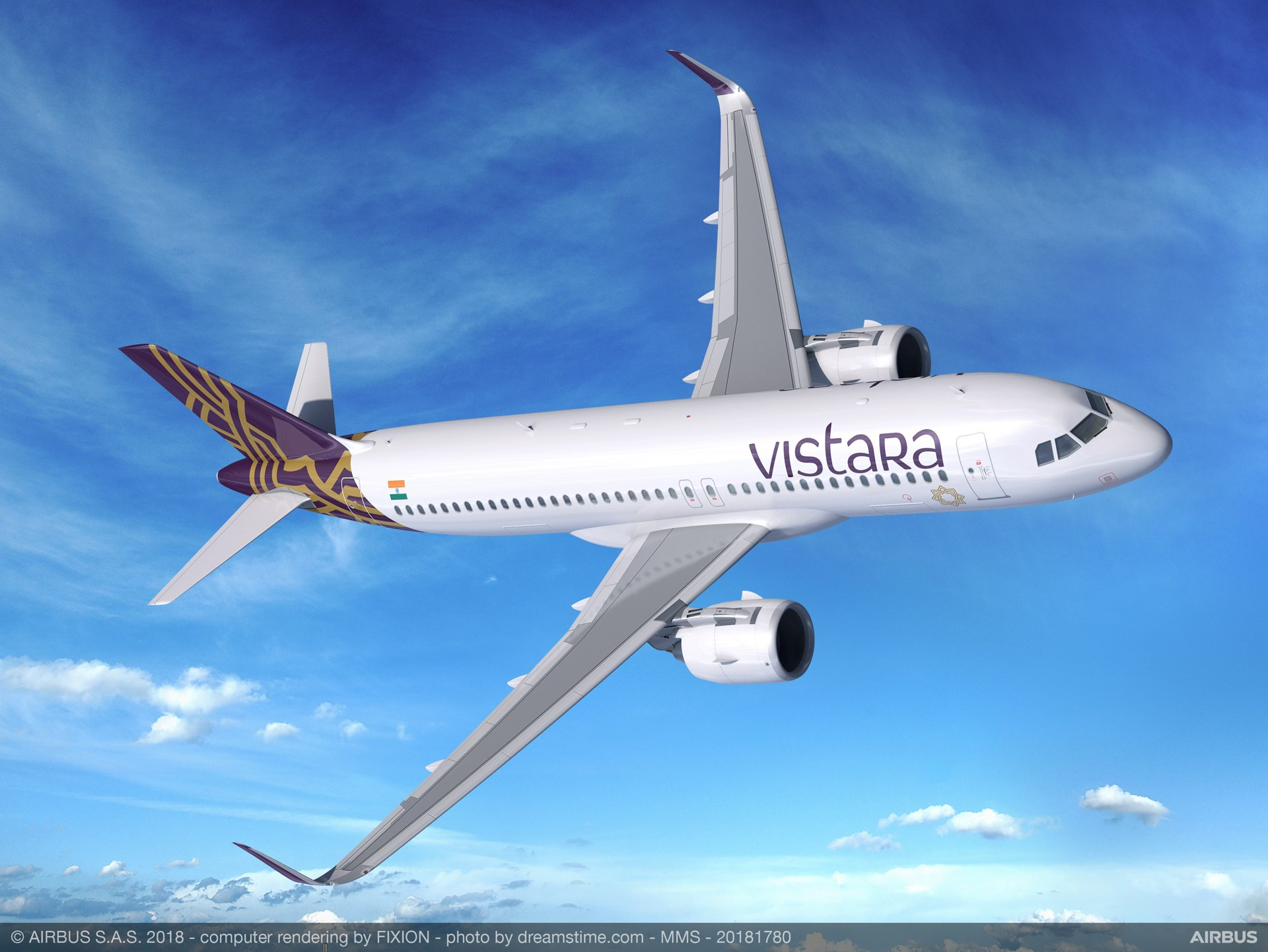 New Delhi-based carrier VISTARA signed a letter of intent for 13 A320neo aircraft, which will join its existing portfolio of 21 Airbus jetliners