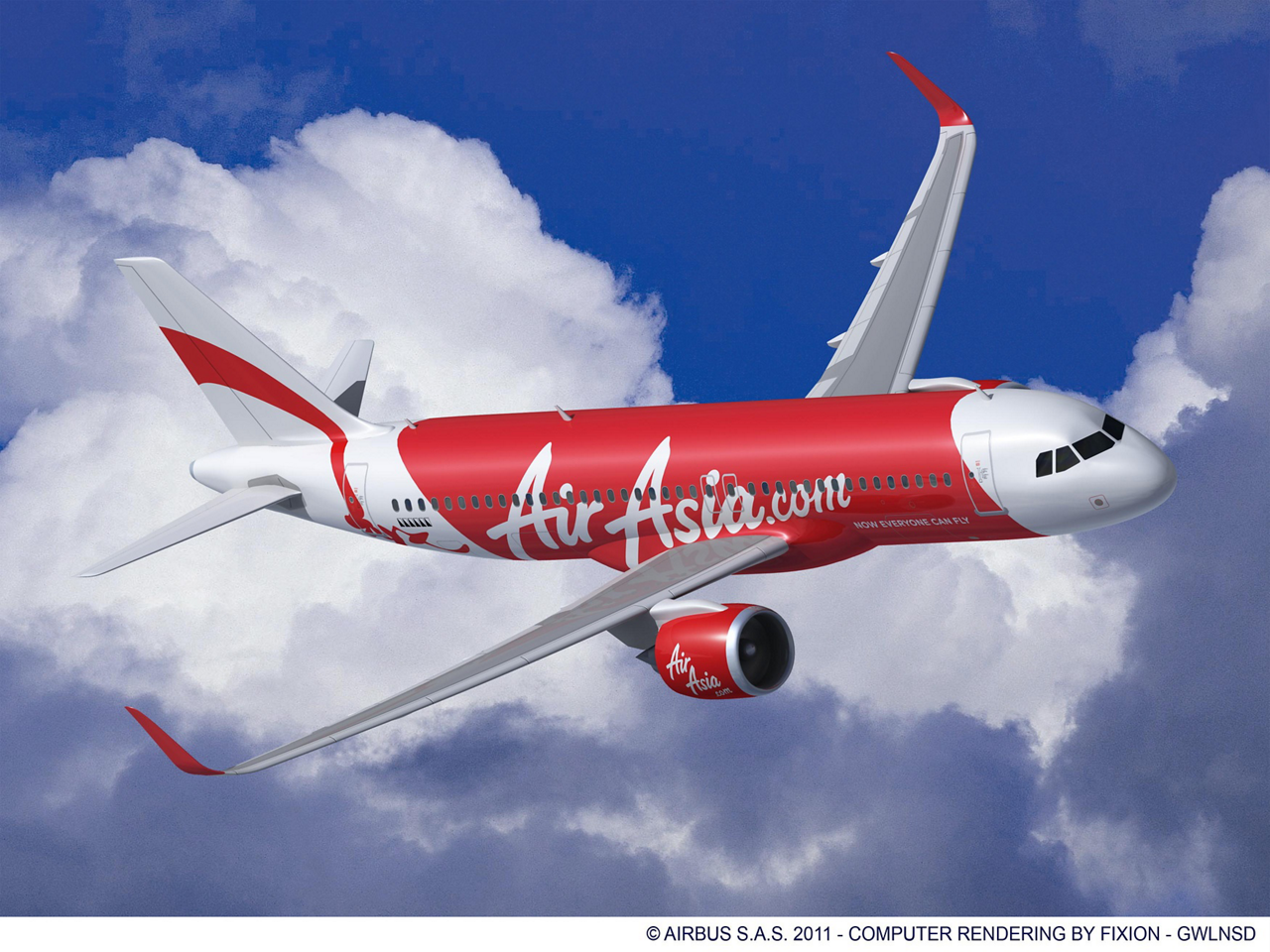 Announced at the 2011 Paris Air Show, AirAsia has placed a firm order for 200 A320neo aircraft – making it the largest airline customer for Airbus' single-aisle product line worldwide (23 June 2011)