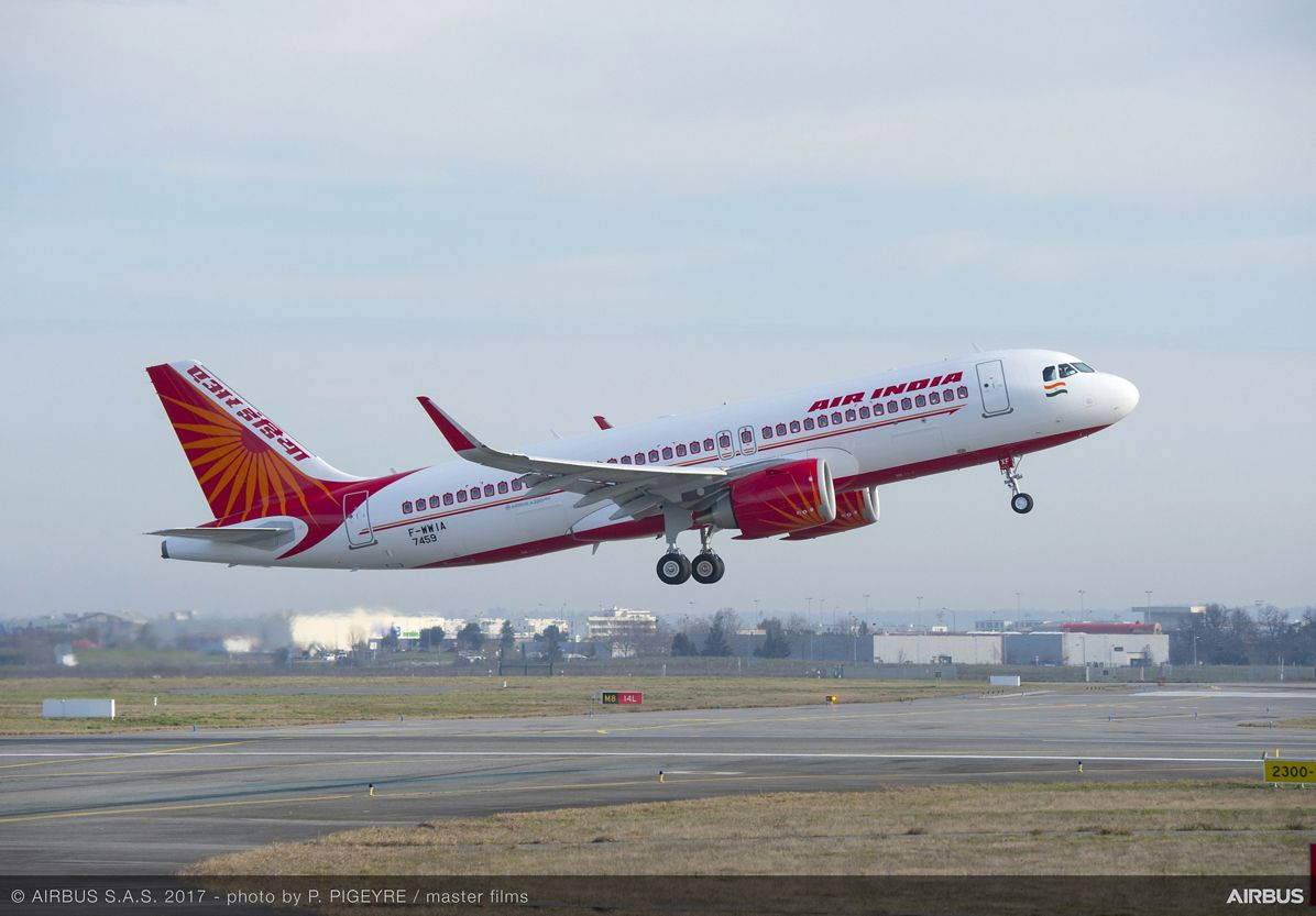 A320neo_Air India takeoff 1
