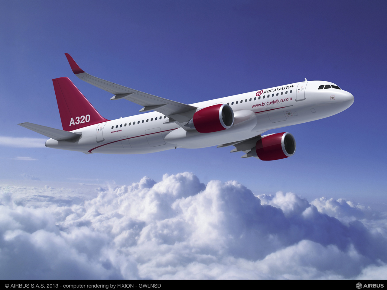 BOC Aviation – the Singapore-based aircraft leasing subsidiary of Bank of China – signed a firm order in December 2012 for the purchase of 50 A320 Family jetliners, including 25 NEOs