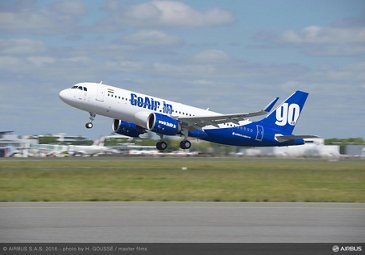 A320neo Go Air - take off