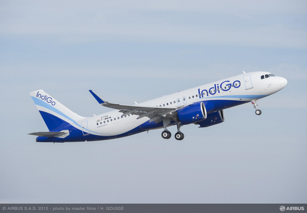IndiGo – India's largest airline by passenger numbers and one of the biggest A320 Family customers with 530 of Airbus' single-aisle aircraft ordered – took delivery of its first A320neo (new engine option) jetliner