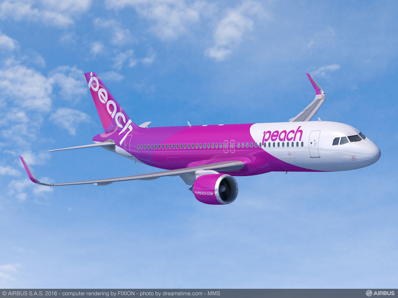 With a firm order for 10 A320neo aircraft (along with three A320ceo versions) signed on 18 November 2016, Peach Aviation will be the first low cost carrier in Japan to operate the latest member of Airbus' popular A320 Family