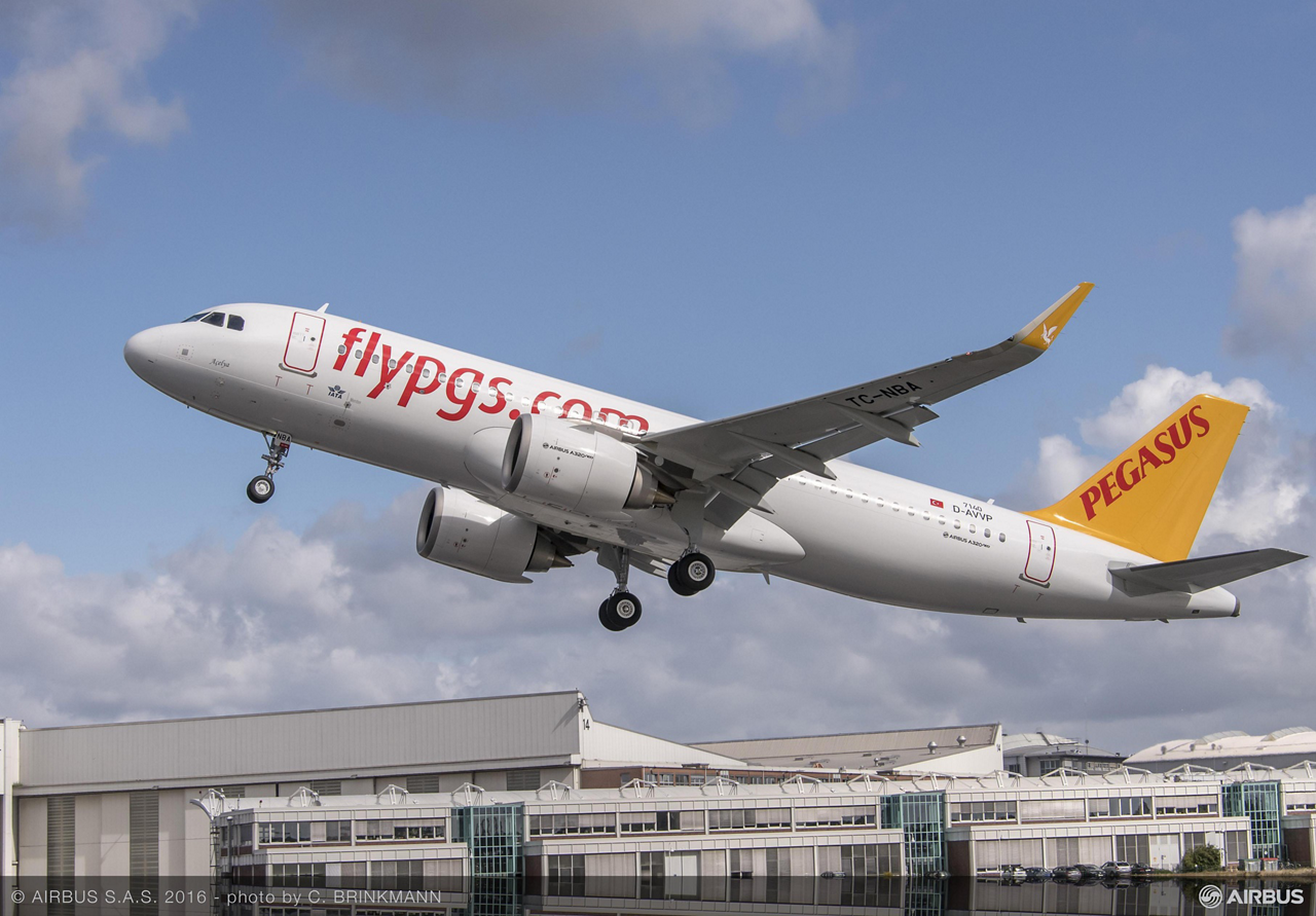 Turkey's leading low-cost carrier – Pegasus Airlines – took delivery of the first Airbus A320neo (new engine option) jetliner powered by CFM International's LEAP-1A engines on 19 July 2016