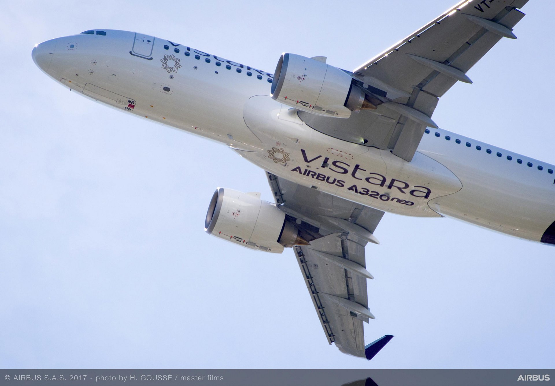 Vistara's first A320neo – delivered by Airbus in May 2017 – is configured in a three-class layout with 158 seats (8 business class, 24 premium and 126 economy class)