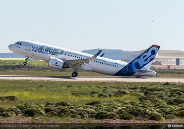 A320neo with Pratt & Whitney engines minimum unstick velocity testing