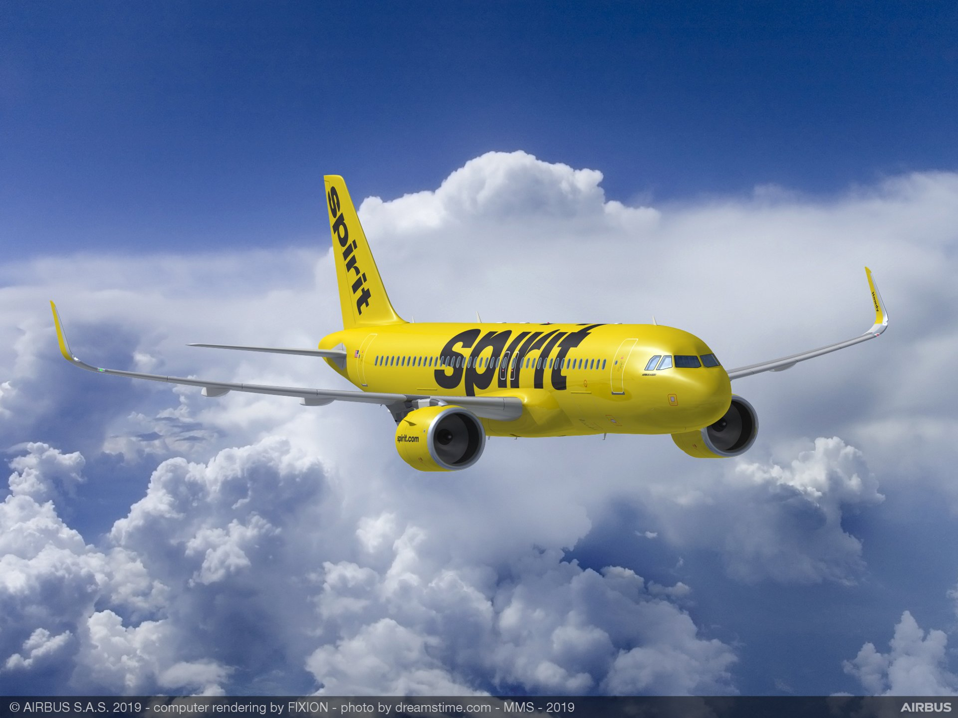 U.S.-based Spirit Airlines will place firm orders for a mix of A319neo, A320neo and A321neo jetliners to meet its future fleet requirements