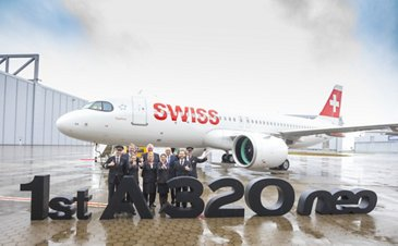 Delivery of first SWISS A320neo