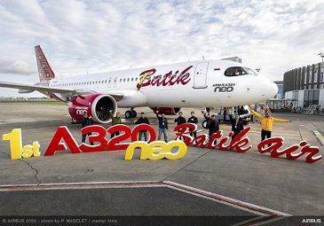 Batik Air A320neo delivery