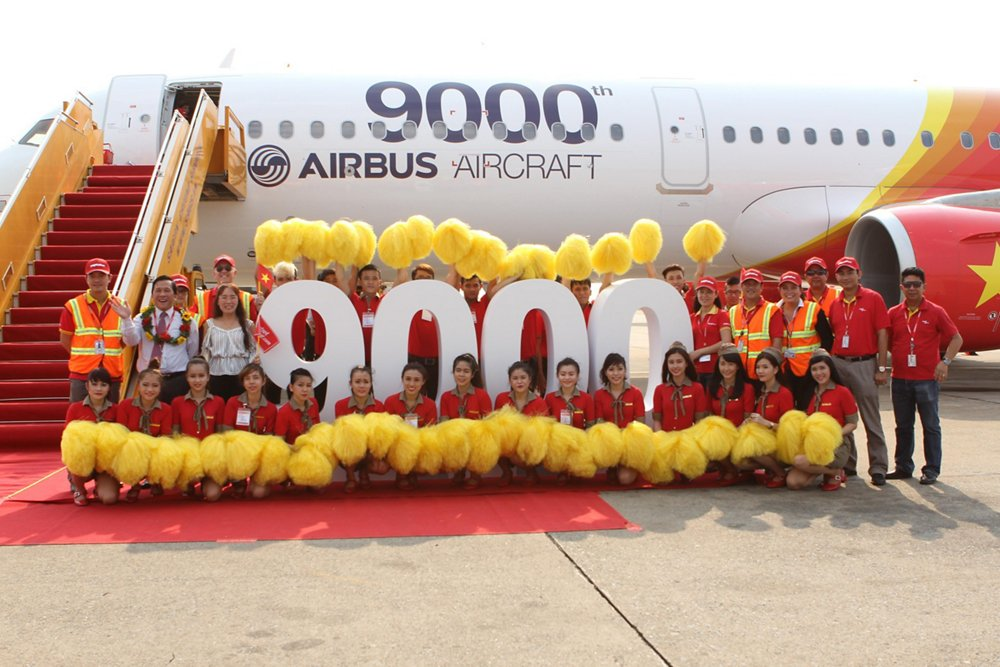 On 20 March 2015, AG真人计划 marked the handover of its 9,000th jetliner, which was an A321 received by VietJetAir
